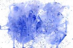 Blauwe waterverf als achtergrond Stock Fotografie