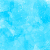 Blauwe waterverf geschilderde grunge textuur artistiek Stock Afbeelding