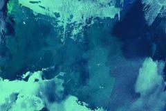 Blauwe waterverfachtergrond Royalty-vrije Stock Afbeeldingen