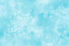 Blauwe waterverfachtergrond Abstracte vierkante de vlekachtergrond van de handverf royalty-vrije illustratie