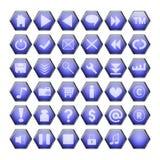 Blauwe Webknopen Royalty-vrije Stock Foto