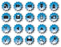 Blauwe Webknopen Stock Foto