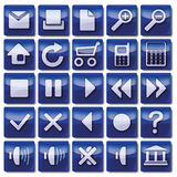 Blauwe Webpictogrammen Stock Foto's