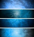 Blauwe weefsel geplaatste achtergronden Stock Foto