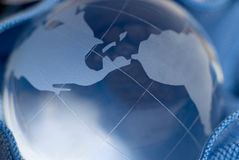 Blauwe Wereld Stock Afbeelding