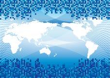 Blauwe wereld Stock Fotografie
