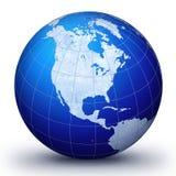 Blauwe wereld Stock Afbeeldingen