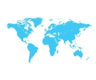 Blauwe wereldkaart Royalty-vrije Stock Afbeelding