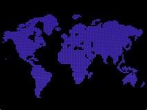 Blauwe wereldkaart Royalty-vrije Stock Foto