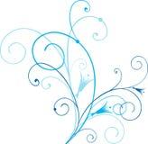 Blauwe wervelingen Royalty-vrije Stock Foto's
