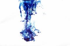 Blauwe wervelingen op wit stock fotografie