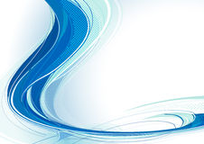 Blauwe wervelwind vector illustratie