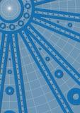 Blauwe wielen Stock Fotografie