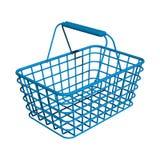Blauwe winkelmand Stock Afbeelding