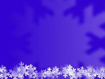 Blauwe winterse achtergrond Stock Afbeeldingen