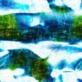 Blauwe Witte Batik Royalty-vrije Stock Afbeeldingen