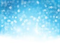 Blauwe Witte Bokeh-Achtergrond Stock Afbeelding