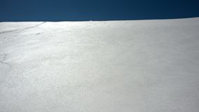 Blauwe witte horizon Stock Afbeelding