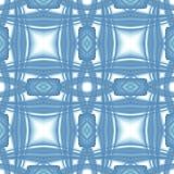 Blauwe witte moderne abstracte textuur Elegante illustratie als achtergrond Vierkante naadloze tegel Textieldrukpatroon Fabri van royalty-vrije illustratie