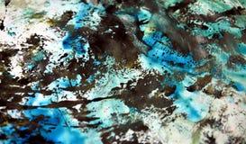Blauwe witte zwarte zachte achtergrond, tinten, de achtergrond van de waterverfverf vector illustratie