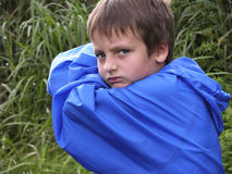 Blauwe woede Stock Foto's