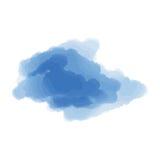 Blauwe wolk op een witte achtergrond Stock Afbeeldingen