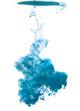 Blauwe wolk van inkt Royalty-vrije Stock Fotografie