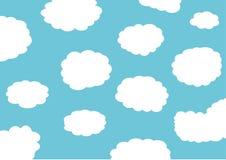 Blauwe wolkenachtergrond Stock Foto's