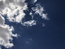 Blauwe wolkenhemel Royalty-vrije Stock Afbeeldingen