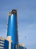 Blauwe wolkenkrabber Stock Fotografie