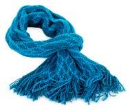 Blauwe wollen sjaal royalty-vrije stock afbeelding
