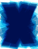 Blauwe x-achtergrond met de brievenvorm van technologie X Futuristisch patroon Royalty-vrije Stock Afbeeldingen