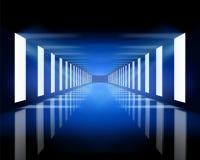 Blauwe zaal stock illustratie