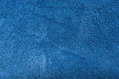 Blauwe zachte van de handdoektextuur dichte omhooggaand als achtergrond Royalty-vrije Stock Foto