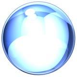 Blauwe zeep-bel royalty-vrije stock afbeeldingen