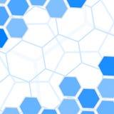 Blauwe zeshoekenachtergrond Royalty-vrije Stock Foto