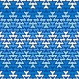 Blauwe zigzag Stock Fotografie