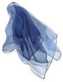 Blauwe zijde Stock Afbeeldingen