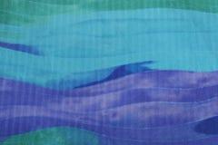 Blauwe zijdeachtergrond. royalty-vrije stock afbeelding