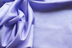 Blauwe zijdeachtergrond Stock Foto