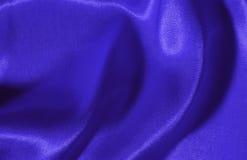 Blauwe zijdeachtergrond Stock Fotografie