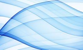 Blauwe zijdeachtige krommen Stock Foto