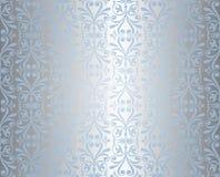 Blauwe & zilveren vakantieachtergrond Royalty-vrije Stock Foto