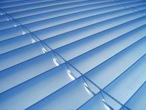 Blauwe Zonneblinden Stock Foto
