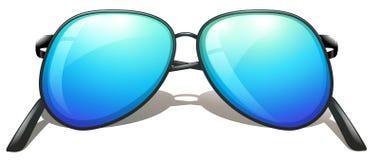 Blauwe zonnebril royalty-vrije illustratie
