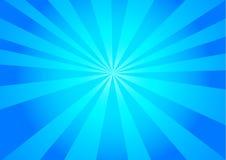 Blauwe Zonneschijnachtergrond Vector Illustratie