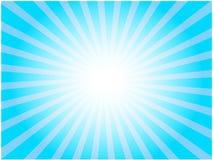 Blauwe zonnestraal Stock Foto's