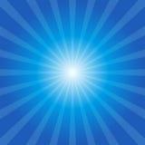 Blauwe zonnestraalachtergrond Stock Fotografie