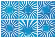 Blauwe zonnestraalreeks als achtergrond stock illustratie