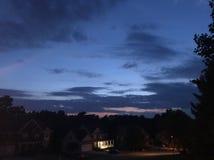 Blauwe zonsondergang Royalty-vrije Stock Fotografie
